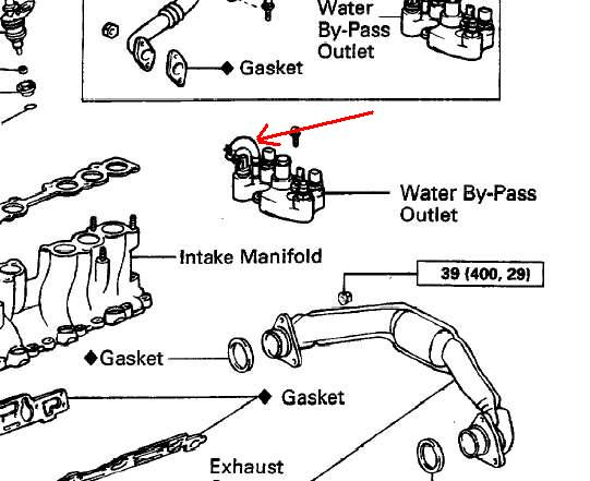 Mystery Coolant Leak Yotatech S. Syotatech Sf116needhelpbrokennippletvvcoolant Manifoldback3vzeengine125042. Toyota. 94 4wd Toyota Pickup Coolant Diagram At Scoala.co